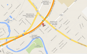 Location Map to our Seguin Heartburn Treatment Center